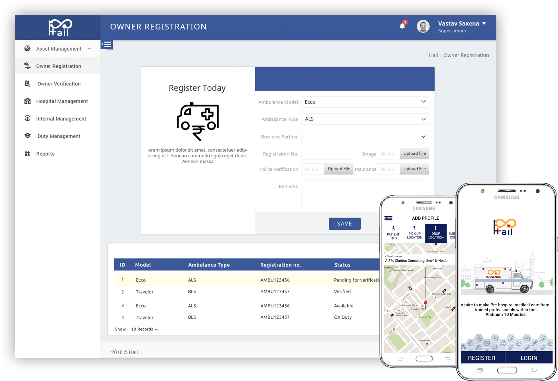 Emergency Embulance Booking Application
